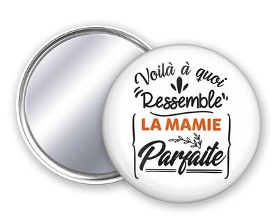 Badge miroir mamie parfaite personnalisable