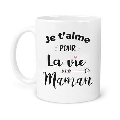 """Mug """"Maman la Vie"""" personnalisable"""
