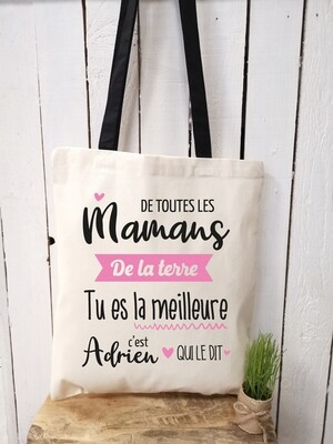 Tote bag terre personnalisable