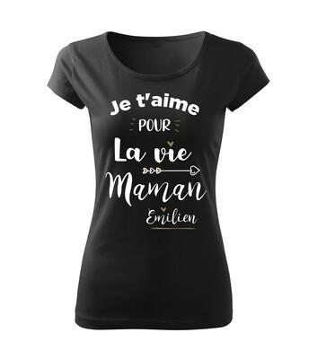 Tee shirt femme la Vie personnalisable