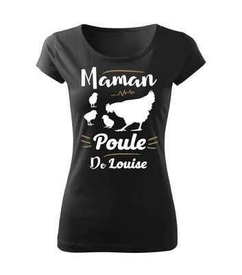 Tee shirt femme Poule personnalisable