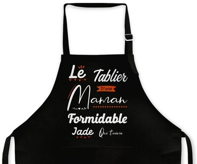 """Tablier Maman personnalisable """"Formidable"""""""