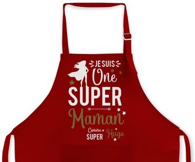 "Tablier Maman personnalisable ""Super"""