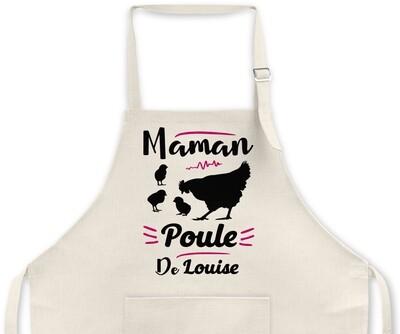 """Tablier Maman personnalisable """"Poule"""""""