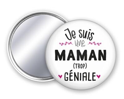 Badge miroir maman géniale