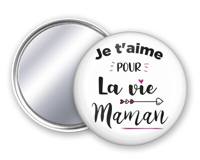 Badge miroir maman La Vie