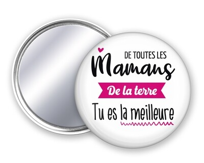 Badge miroir maman Terre