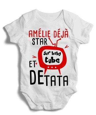 Body grenoullière star sur baby tube