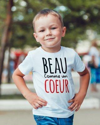 Tee shirt enfant beau comme un cœur