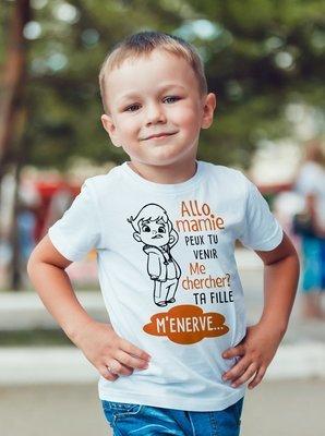 Tee shirt enfant mamie ta fille