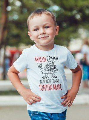 Tee shirt enfant non c'est tonton