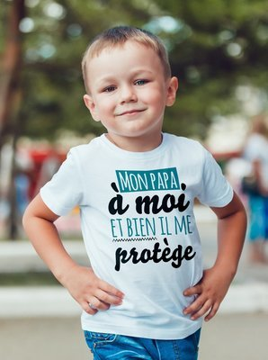 Tee shirt enfant papa protège