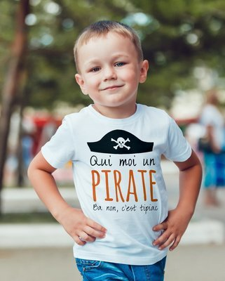 Tee shirt enfant moi un pirate