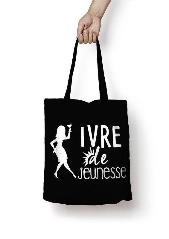 Sac shopping ivre de jeunesse