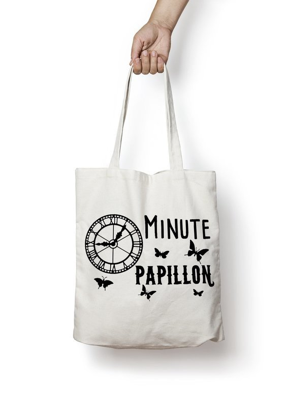 Sac shopping minute papillon