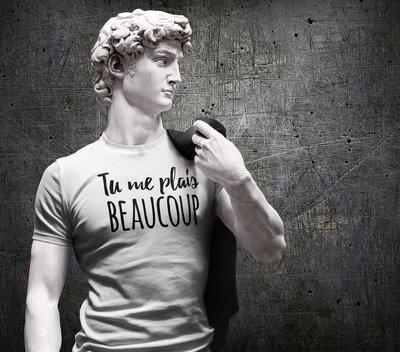 Tee shirt homme tu me plais beaucoup