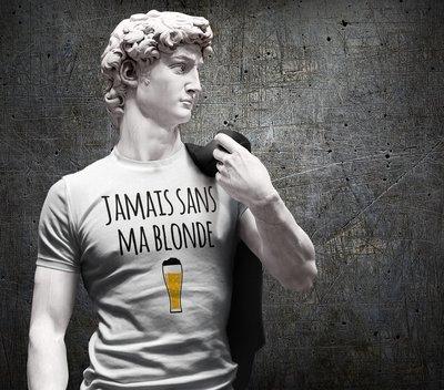 Tee shirt homme jamais sans ma blonde