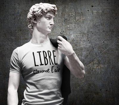 Tee shirt homme libre comme l'air