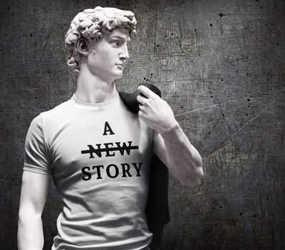 Tee shirt homme a new story