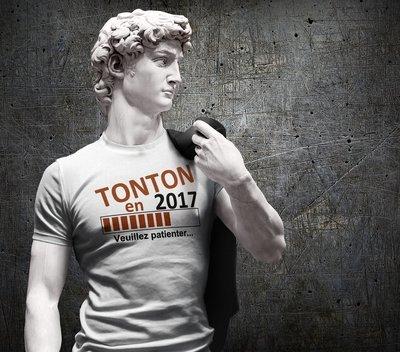 Tee shirt homme tonton en, choisir l'année
