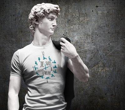 Tee shirt homme toujours à l'heure