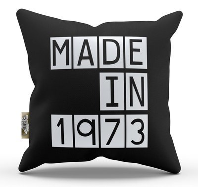 Housse et coussin made in, année personnalisable