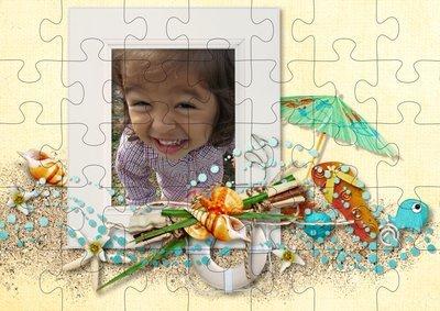 Puzzle montage à la mer