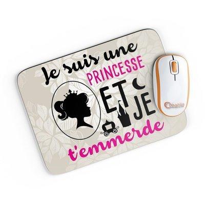 Tapis de souris je suis une princesse