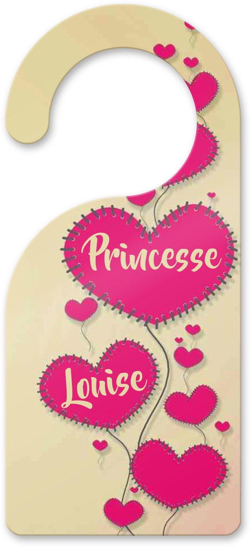 Accroche porte princesse, prénom personnalisable