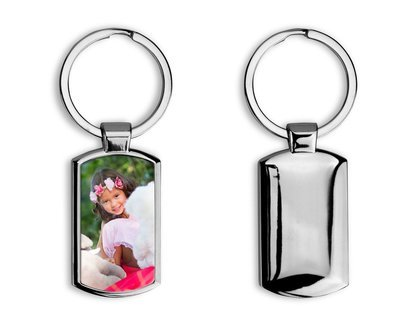 Porte clés en métal personnalisable avec votre photo