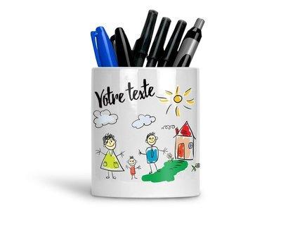Pot à crayons personnalisé avec vos photos et votre texte