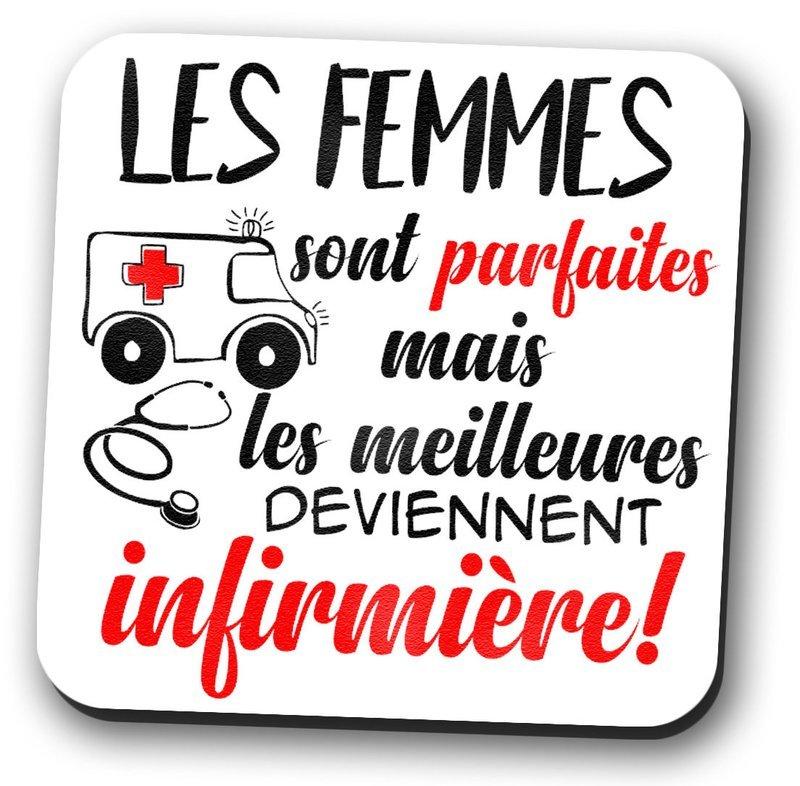 Magnet frigo les femmes sont parfaites, infirmière