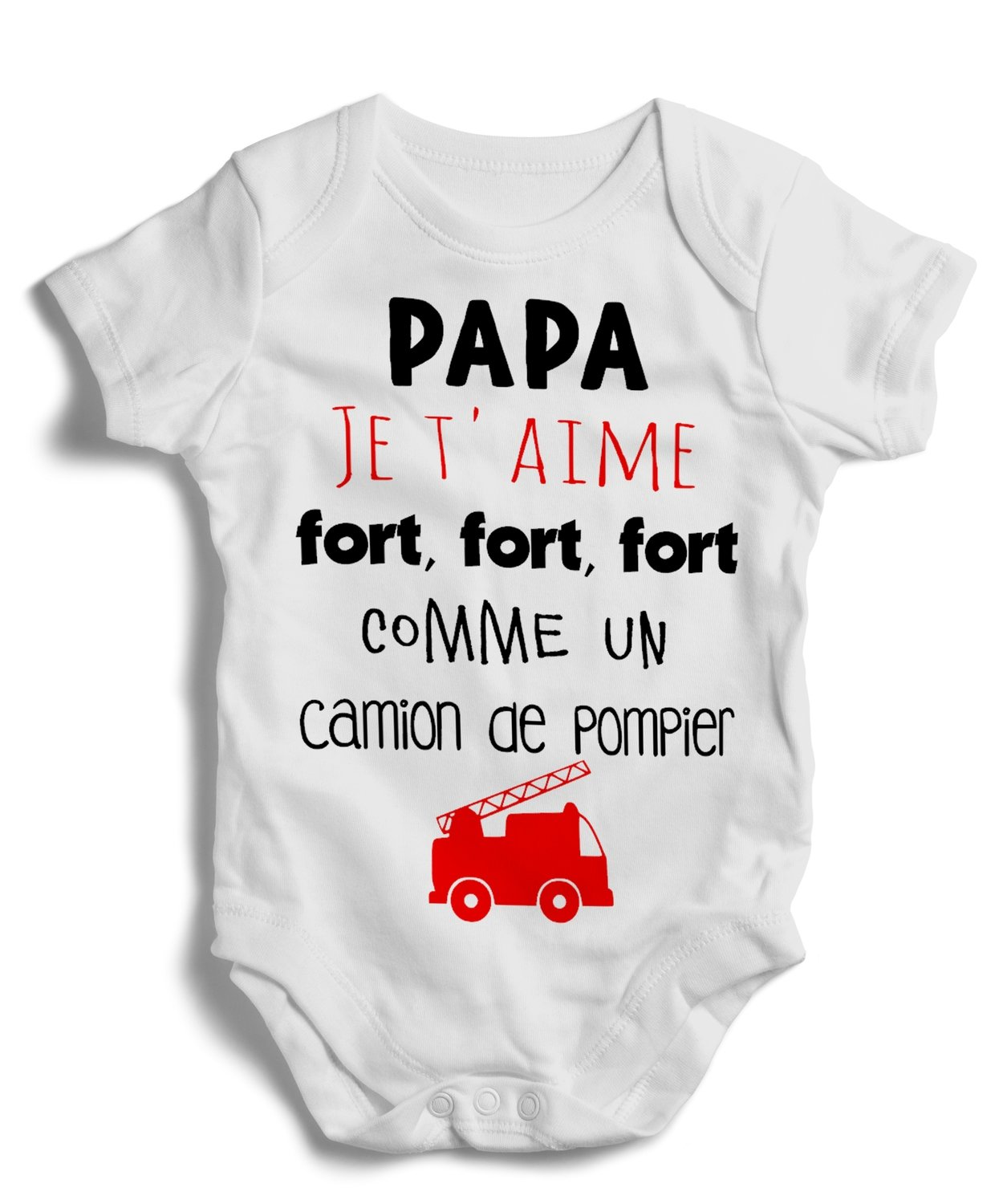 Body grenouillère papa je t'aime fort, fort, fort