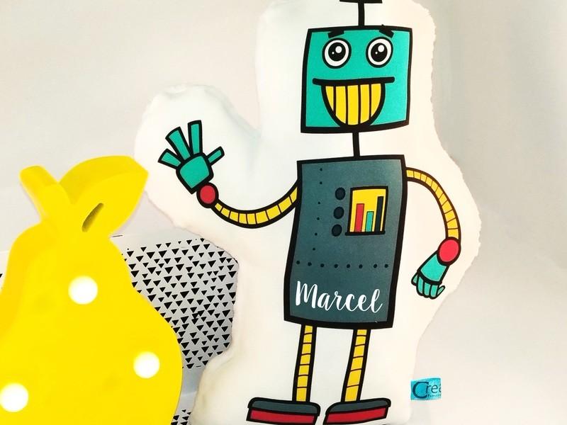 Doudou robot avec prénom personnalisable