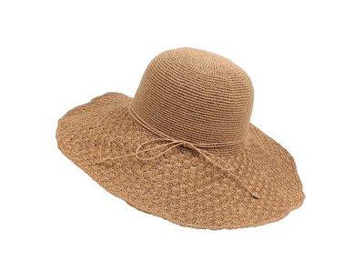 Wide brown hat
