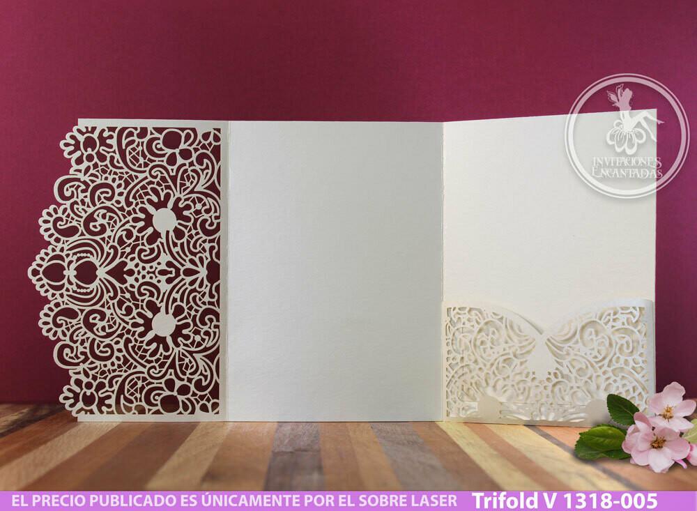 DIY Sobre de Corte Laser Trifold V 1318-005