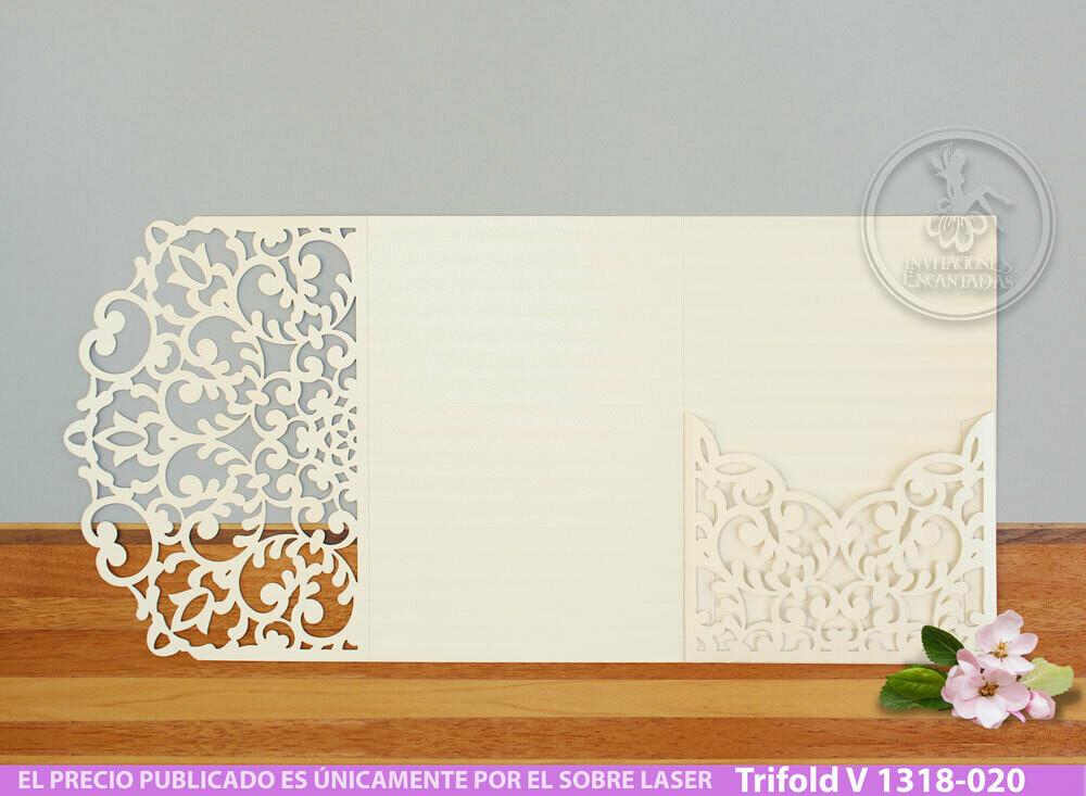 DIY Sobre de Corte Laser Trifold V 1318-020