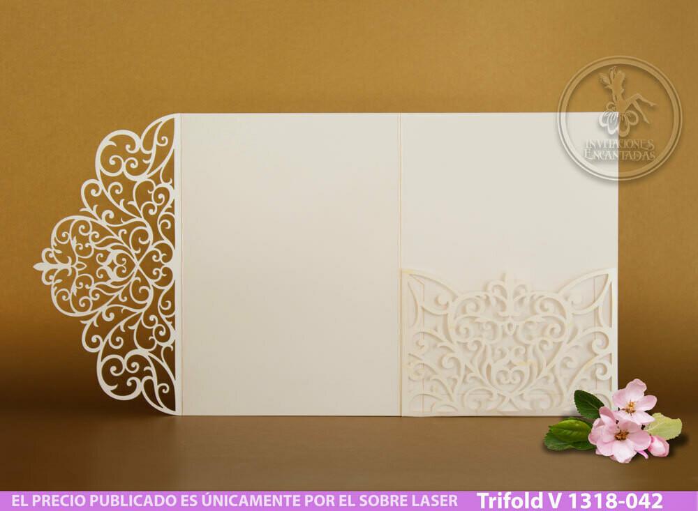 DIY Sobre Corte Laser Trifold V 1318-042