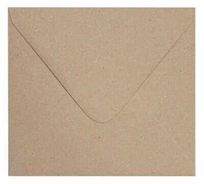 25 Sobres rectangular 20x18 cm KRAFT 150g