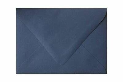 25 Sobres rectangular 13.7 x 18.7 cm 100g Burano Azul Marino