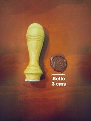 Sello Para Lacre Personalizado De 3 Cm En Poliacrilico