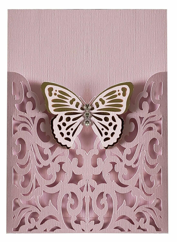DIY Sobre de Corte Laser S 15-001 Mariposa