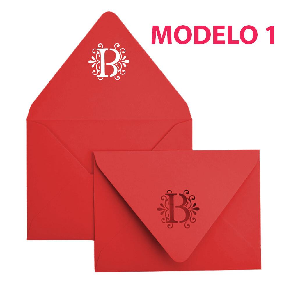 10 Sobres Personalizados Invitaciones 13.7x18.7cm Mate 200g