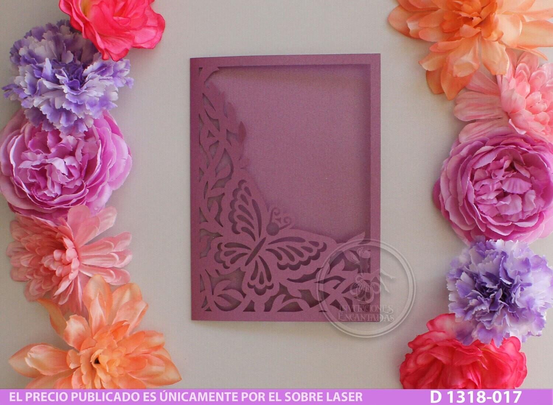 DIY Sobre Corte Laser D 1318-017 Mariposas