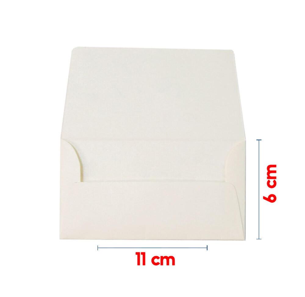 Sobre rectangular 6x11 cm Papel Hueso-Marfil Mate de 120g