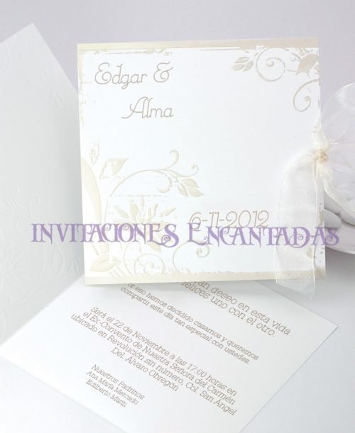Invitación Boda de Paris Invierno 07