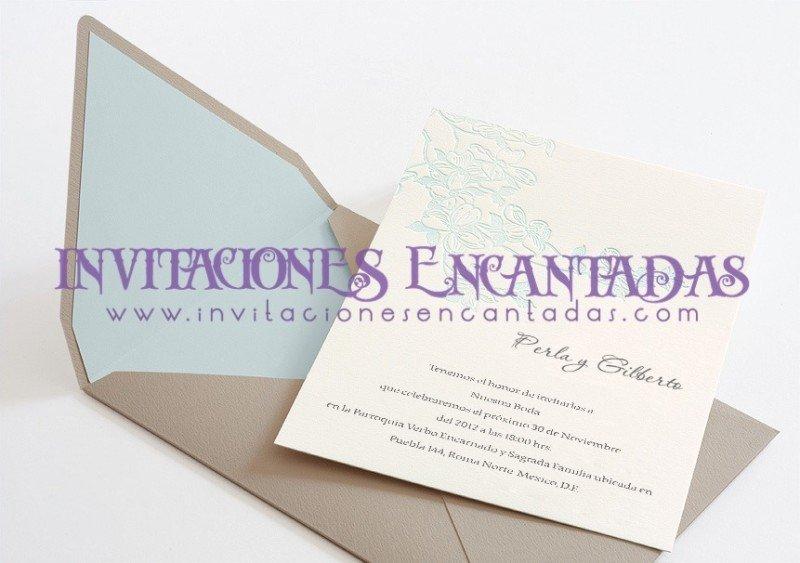 Invitación Boda Letterpress 01 Desde