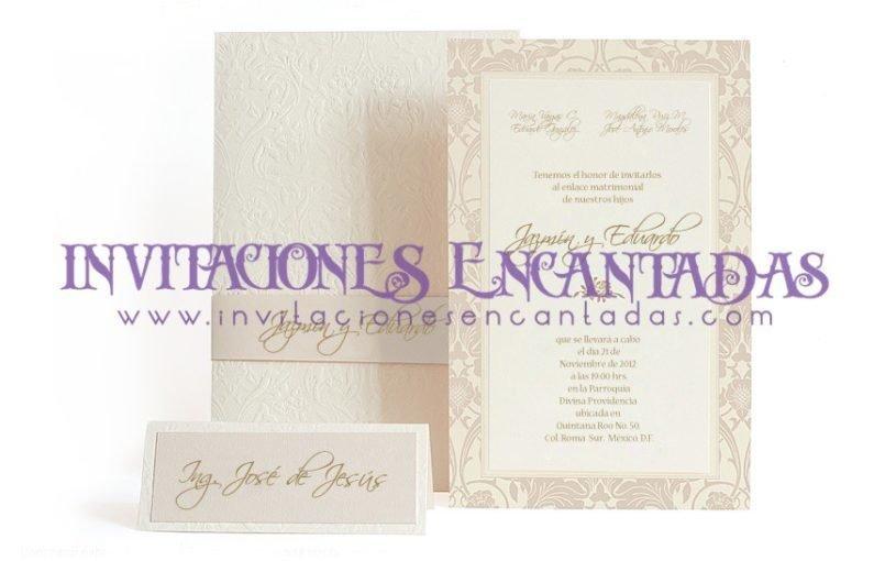Invitación Boda Elegante 09