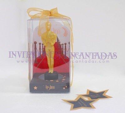 Invitación de XV Caja Acetato con Vela Ariel