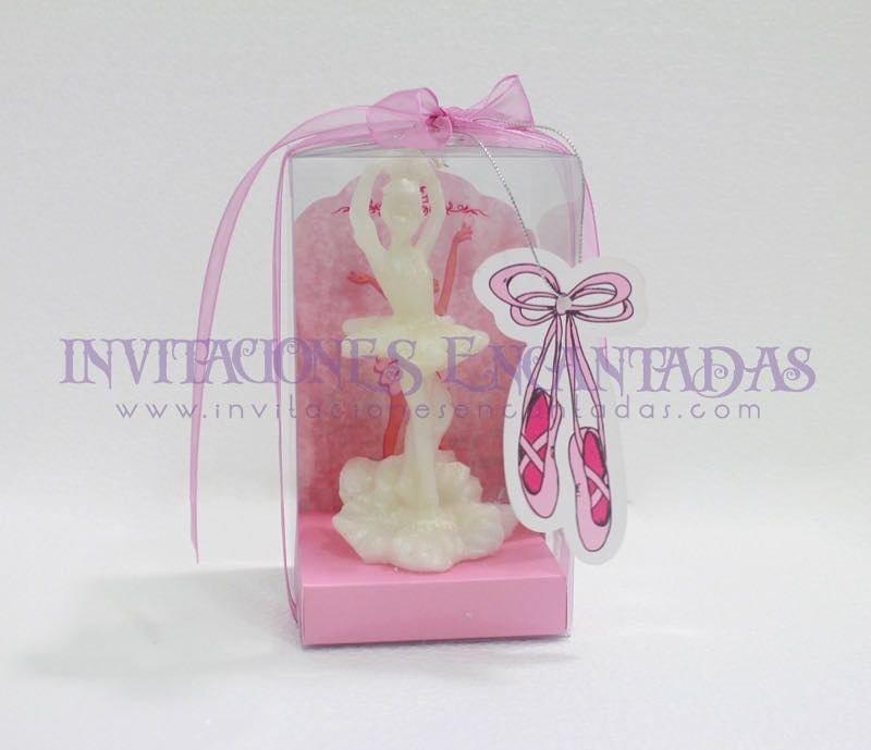 Invitación XV Caja Acetato Vela Bailarina Ballet 12 cms